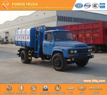 Dongfeng 4x2 side loader garbage truck capacity 8000L