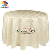 Factory wholesale Polyester Brocade Jacquard Table cloth