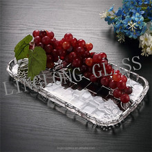 "Crystal transparent rectangular 2"" thick plate glass"