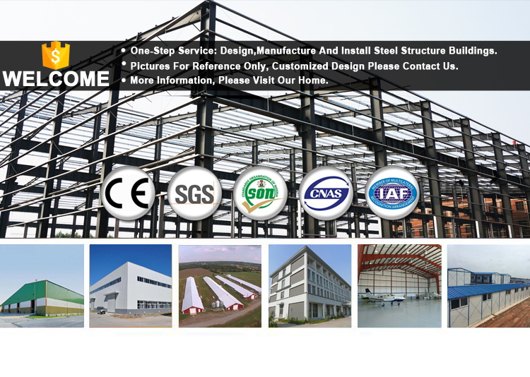 Large Span Galvanized Demountable Light Steel Structure Garage Workshop