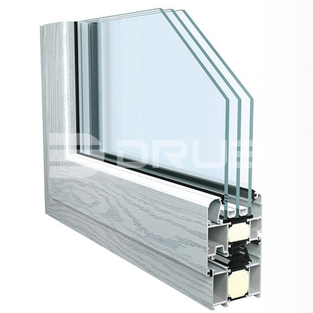 commercial aluminum anti-noise windows manufacturers, aluminum frame tilt and turn window