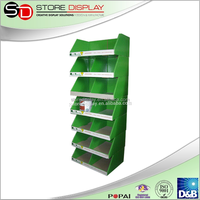 4 color printing Cup Display Rack retail store and supermarket creative design cardboard display stand