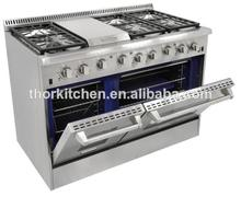 Kitchen free standing gas stove with oven/stainless steel appliance for cooking range