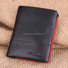 NEW Men's Black Genuine cow leather Bifold Luxury Wallet,classical design wallet with 10 credit card slots