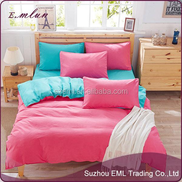full comforter sheets 4pcs pure color and pure cotton bedclothes 4pcs bed linen EML-12-W10013