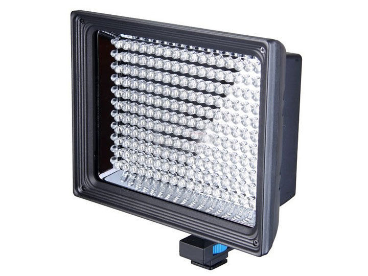 LED Video Light 11W 1250 Lumen LED-187A Universal Hot Shoe for Photo & Video