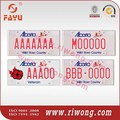 Alberta car license plate, reflective sheet, aluminum car number plate