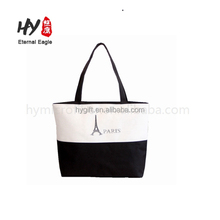 The zipper sublimation wholesale canvas tote bag lined