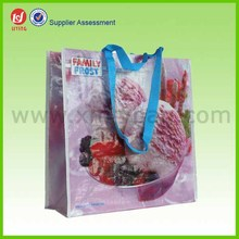 Custom Printing Retractable Recycled PP Woven Handle Bag