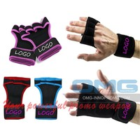 Workout Gloves Fitness Crossfit WODS GYM Weight Lifting Leather Padding Hand Grip Callus Guard Wrist Support Wrap Palm Protector