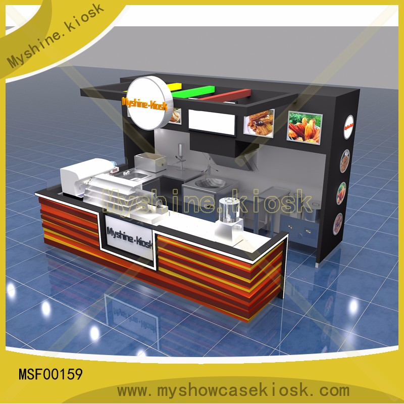 After sales service provided indoor application mall fast for Indoor food kiosk design