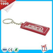 Design easy to use advertising soft touch pvc keyring