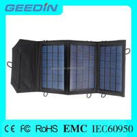 Portable and foldable dual-port solar panel solar panel tent for smart phone