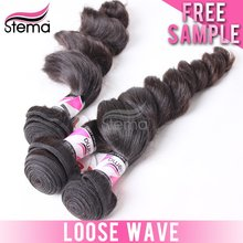 2014 High quality best price Malaysian loose curl human hair extension hair attachment