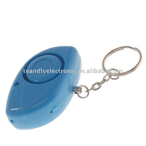 keychain LED flashlighting mini Personal alarm 140DB