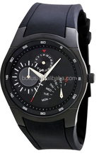 Black rubber band&stainless steel watch case fashion watches brand list