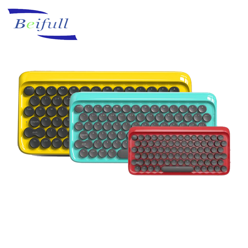 Shenzhen Original factory offered Retro style 78 keys wireless mechanical keyboard for phone ipad tablet MAC