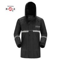factory price OEM polyester pongee reflective safety raincoat for adult
