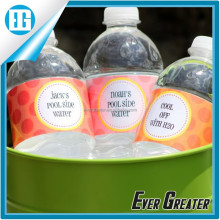 Bottled water label design, custom printing labels stickers