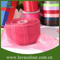 Custom Colorful Gift Wrapping Organza Ribbon for wedding Bride