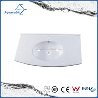 Bathroom cabinet countertop basin with round corner