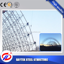 Bolted Joint Grid Frame Steel Structure Shed Dome Roof Prefabricated Building