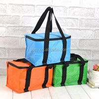 Insulated effect 6 pack fitness food delivery custom wine cooler tote cheap bag with durable hard line