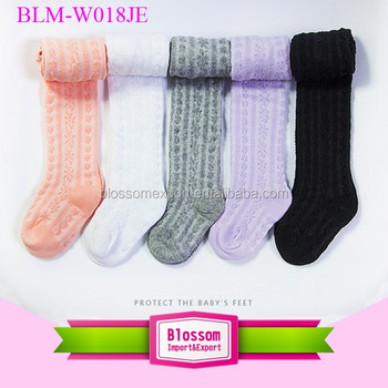 USA Knitted Children Leg Warmers Boot Socks Knee High leggings Girls cute pantyhose Boot Socks tight tube long stockings 2 y
