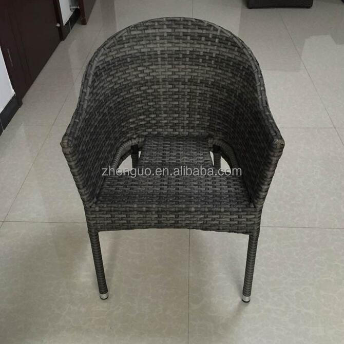 Stackable steel frame rattan garden outdoor chair with/out cushion