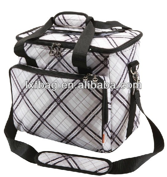 Top quality canvas insulated picnic lunch cooler bag