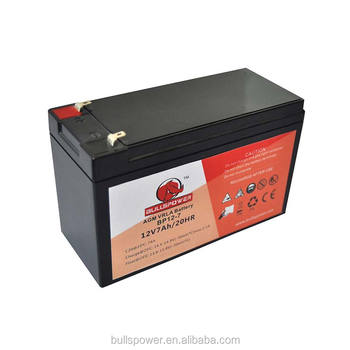 BULLSPOWER vrla smf ups battery 12v 7ah sealed lead acid battery for ups