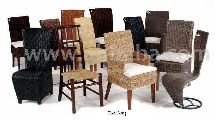 Rattan, Wicker, Abaca, Hardwood, Bamboo And Metal Furnitures