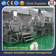 200L cosmetic manufacturing mixing equipment with bottom homogenizer