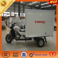 Heavy Duty cargo tricycle / 250cc water cooler closed cabin box for sale