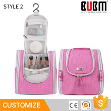 BUBM wholesale polyester portable travel toilet bag hanging makeup bag, promotion travel cosmetic bag