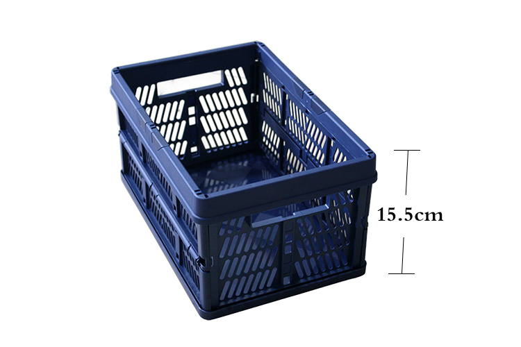 best selling low price plastic houseware soft foldable basket direct supply