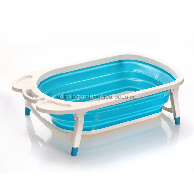 New style foldable baby bathtub/cheap folding baby bath tub