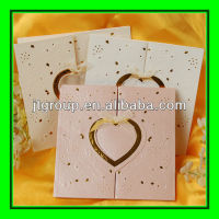 custom design fancy paper hot stamping handmade love cards