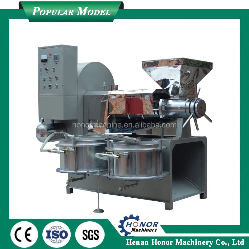 Diesel Engine Heat Tea Seed Cooking Oil Extractor With Automatic Oil Vacuum Filter