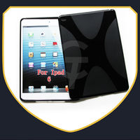 2014 New Arrival X line wave design tpu gel case cover for ipad air 2