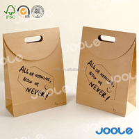 180g 200g Kraft paper bag nature brown bag with one color printing cheap price