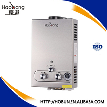 kitchen tankless gas hot water heater with safety device