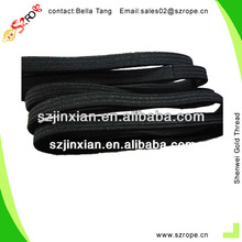 5MM Flat Black Plain Hair Elastic Bands