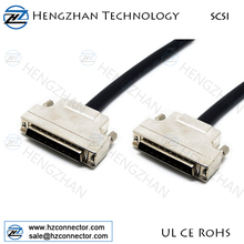 SCSI 1-2 External Cable/Half Pitch 50 male to 50 Centronic male SCSI cable plug connector