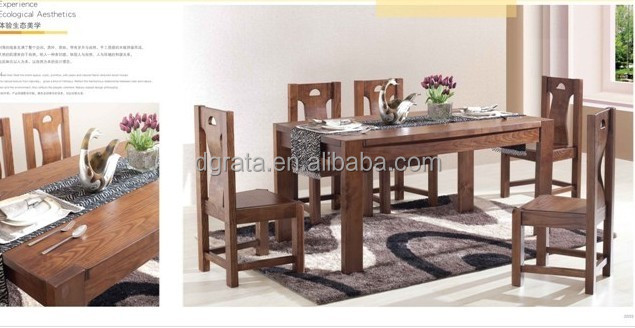 2014 practical wooden dining table set was made from american ash wood for dining room furniture - American made dining room furniture ...