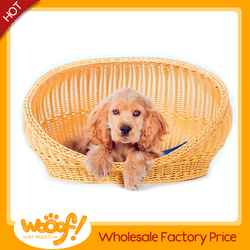 Hot selling pet dog products high quality rattan dog house