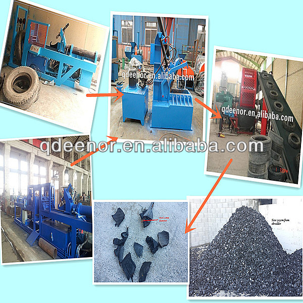 No Pollution Used Tire Recycling Machine / Complete Tire Recycling Plant
