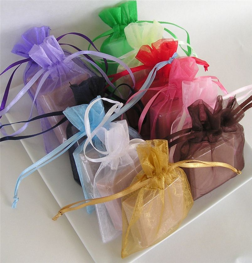 Wedding Party Favor Decoration Gift Jewellery Candy Mixed color Organza Bags