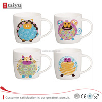 ceramic children mug with cute animal design