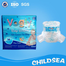china fine high quality export to Congo cartoon rabbit colored disposable baby diaper